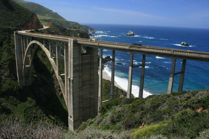 california, bixby bridge, big sur, california no copyright attribute author wikipedia
