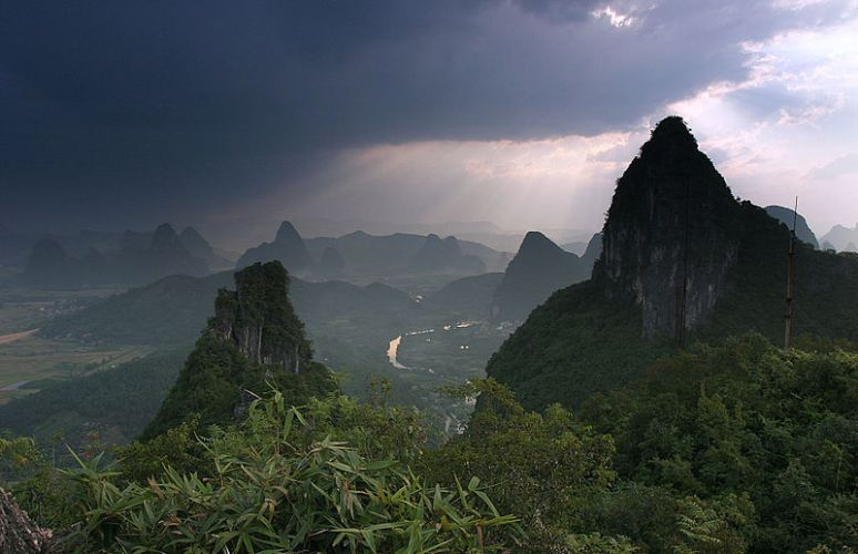 China yangshuo moon hill no copyright attribute photographer