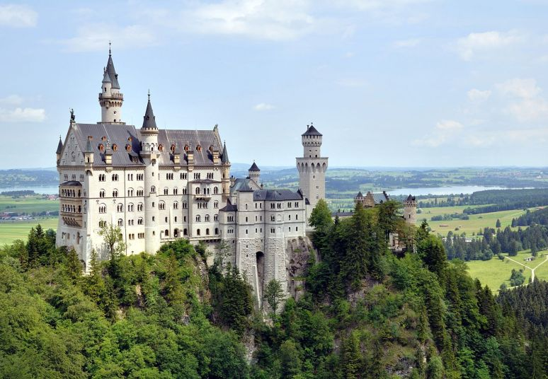 Germany, bavaria neuschwanstein castle no copyright