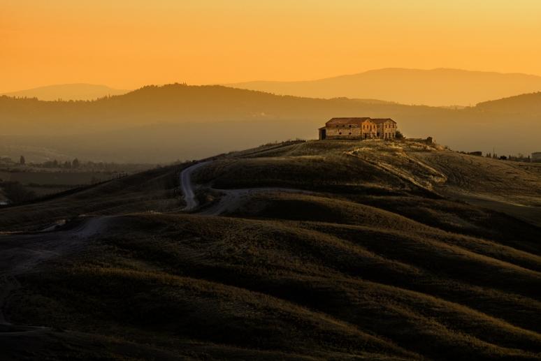 Tuscany Farmhouse at Dawn