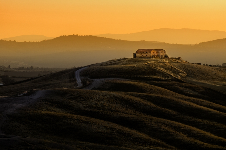 Tuscany Farmhouse at Dawn