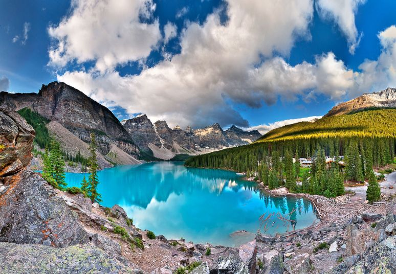Moraine Lake, no copyright photographer Mike Boehmer